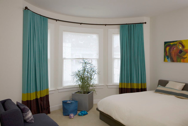 Remarkable-Blinds-And-Curtains-For-Bay-Windows-With-Bay-Window-Curved-Curtain-Pole-Plus-Expandable-Curtain-Rod-Brackets-And-Two-Curtain-Rods-One-Window